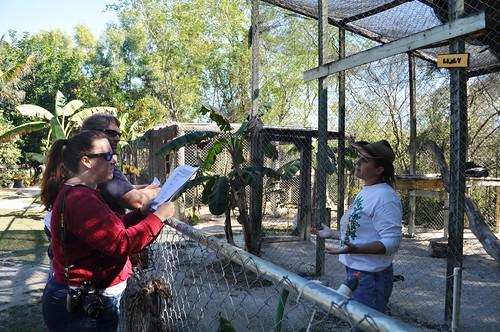 Freelance Journalists Kelly & Kevin Merritt and Lauri Caron at Octagon Wildlife Sanctuary
