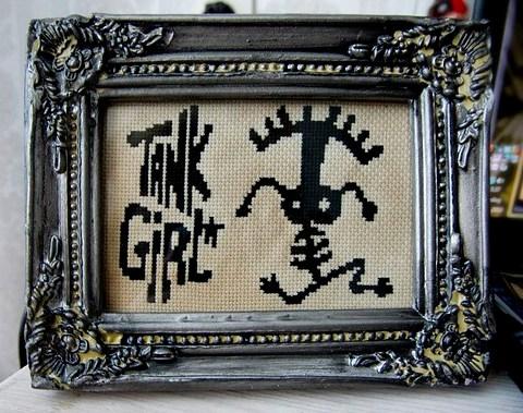 Tank Girl Tattoo X-Stitch