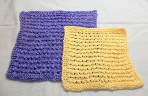 Knitted Pebble Washcloth