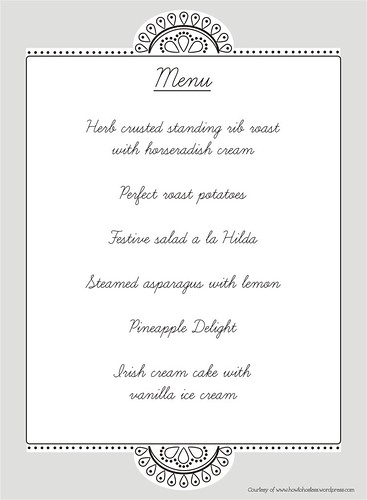 holiday menu