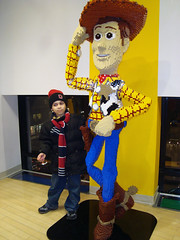 Aidan and the LEGO Woody
