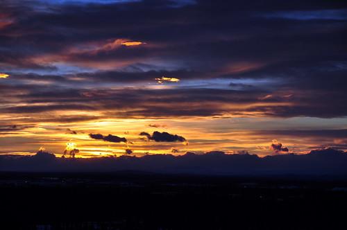 Sunrise over Fairbanks