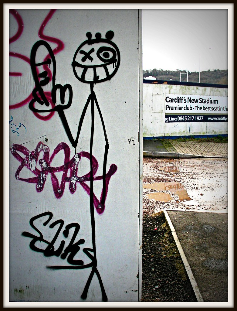 Graffiti in Cardiff.