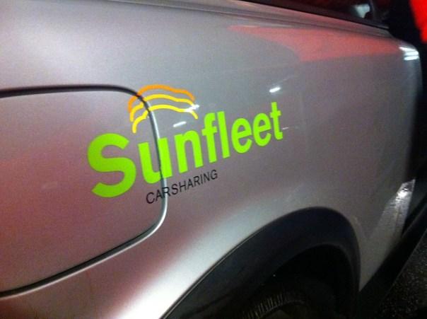 Premiärtur med bil från Sunfleet