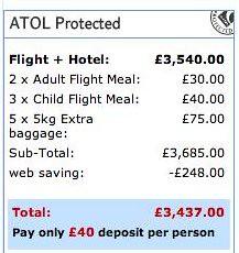 Travel - Thomson price
