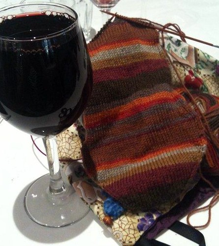 red wine and socks