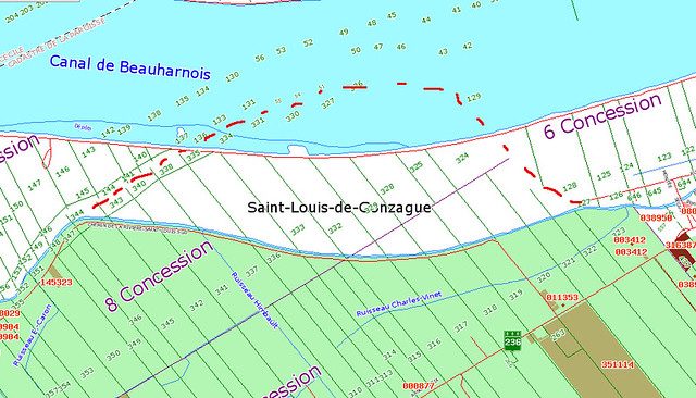 Le fantôme cadastral de la rivière Saint-Louis