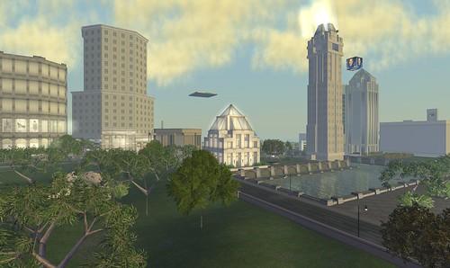 bay city skyline