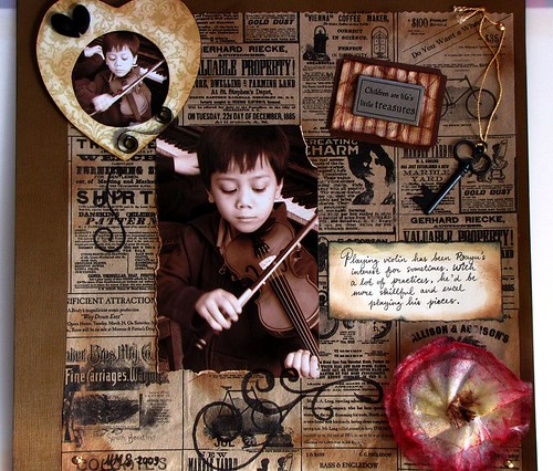Little Violinist Scrapbook