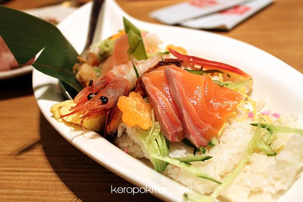 Mixed Sashimi Rice