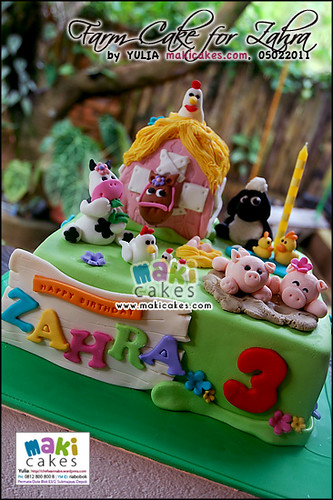 Farm Cake for Zahra_ - Maki Cakes