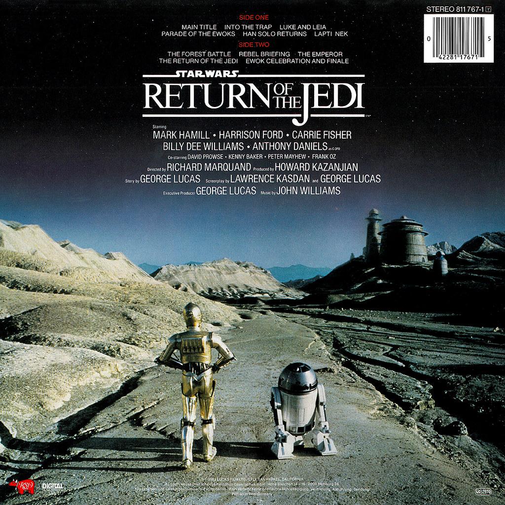 Star Wars Return Of The Jedi Lp Cover Art