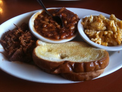 Pulled Pork Plate at JL's BBQ (Macon GA)
