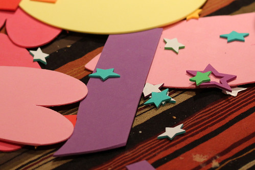 stars, hearts and crumbs - valentine's art project