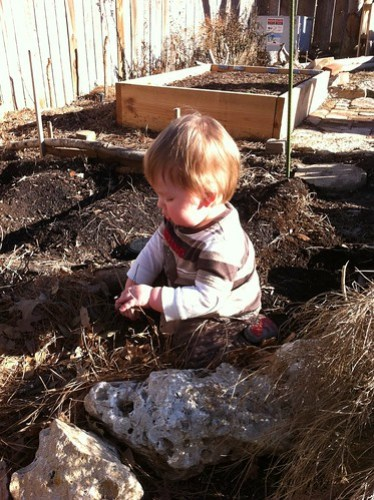 Lukas in the dirt