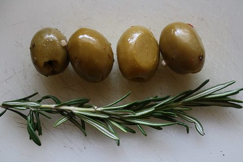 olives and rosemary