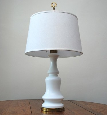 vintage white ceramic table lamp