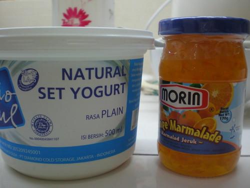yogurt and jam