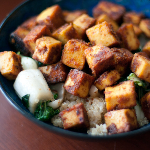 Curried Tofu with Coconut Quinoa