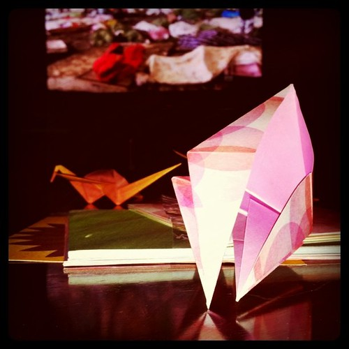 Watching Four Corners about Japan & folding more cranes for #1000cranes