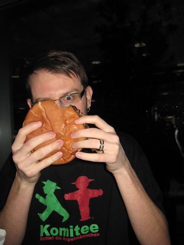 Craig and double cheeseburger