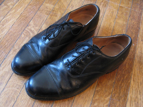 Black Leather Oxfords by Florsheim Shoes