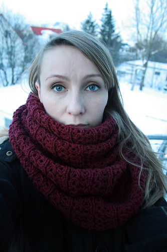 Long wrapped circle scarf