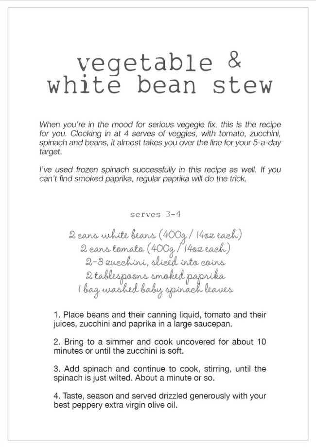 vegetable & white bean stew