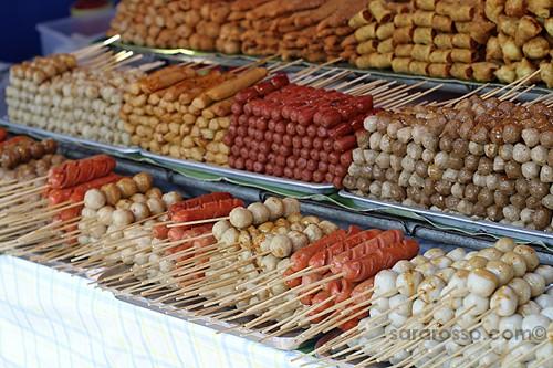 Many types of Satay, Street Food in Thailand