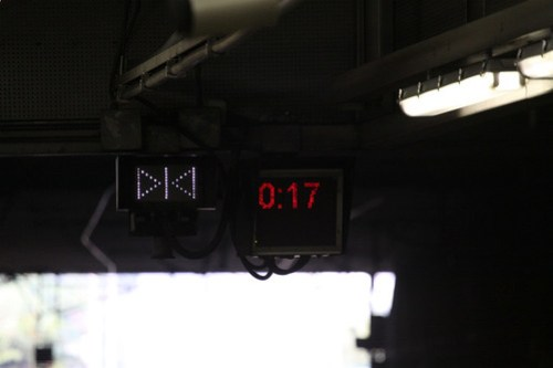 """Door close"" indicator illuminated at Mong Kok East station"