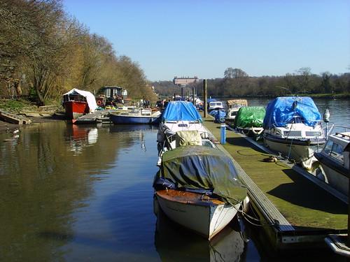 Thames at Twickenham, looking towards Richmond Hill