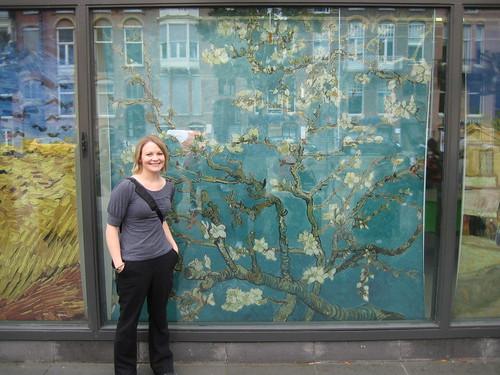 me outside of Van Gogh museum