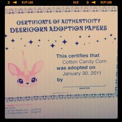 Deericorn adoption papers~ haha ;)