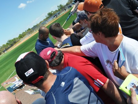 David Price Signs Autographs for Fans, Tampa Bay Rays Spring Training, Feb. 21, 2011
