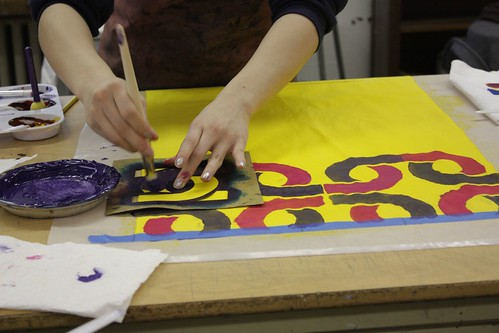Fabric Stenciling workshop