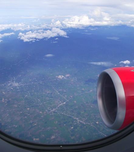 Вид за окном самолета