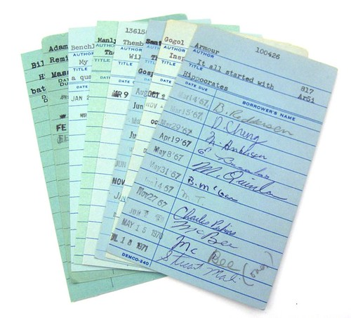 Etsy sovereignsea Vintage Library Checkout Cards Lot of 15 for $5