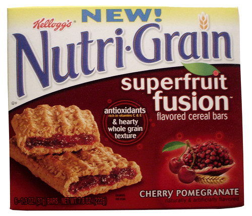 Nutri-Grain Cherry Pomegranate Superfruit Fusion Bars