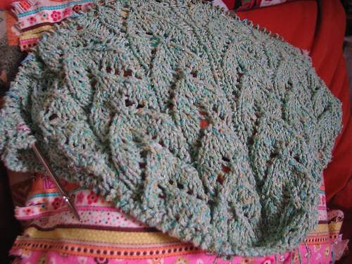 shawlette in progress