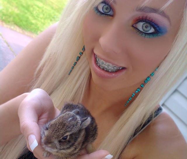 Future Bunny Teen Gems Tags Beauty Natural Braces Makeup Teen Blonde
