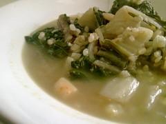 Chard rice soup / Olleta de bledes vegana