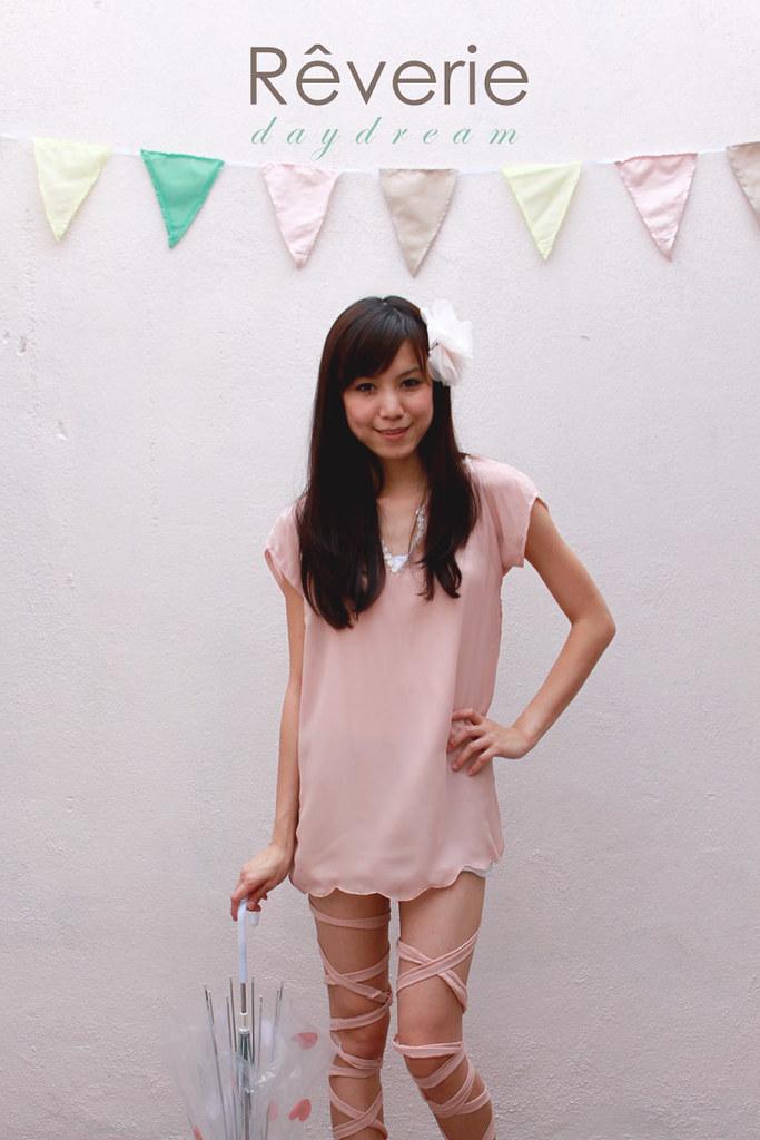 Rêverie-pale pink top