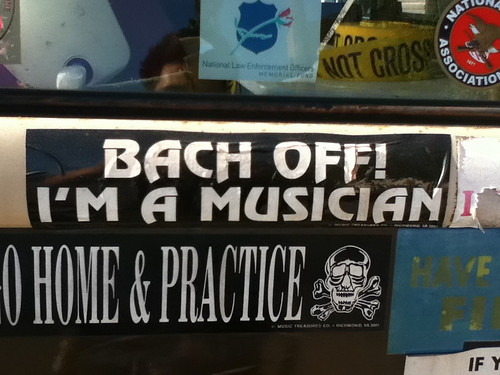Bach off I'm a Musician