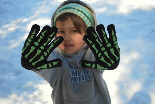 elliott and his skeleton gloves