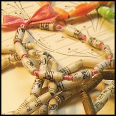 handmade unusual recycled paper bead bracelets