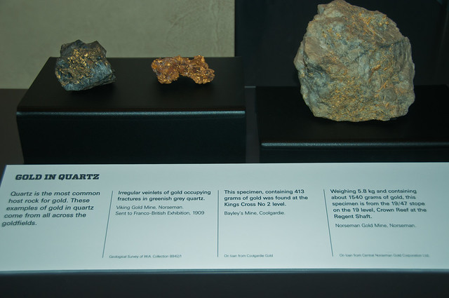Gold Specimens, Kalgoorlie Museum
