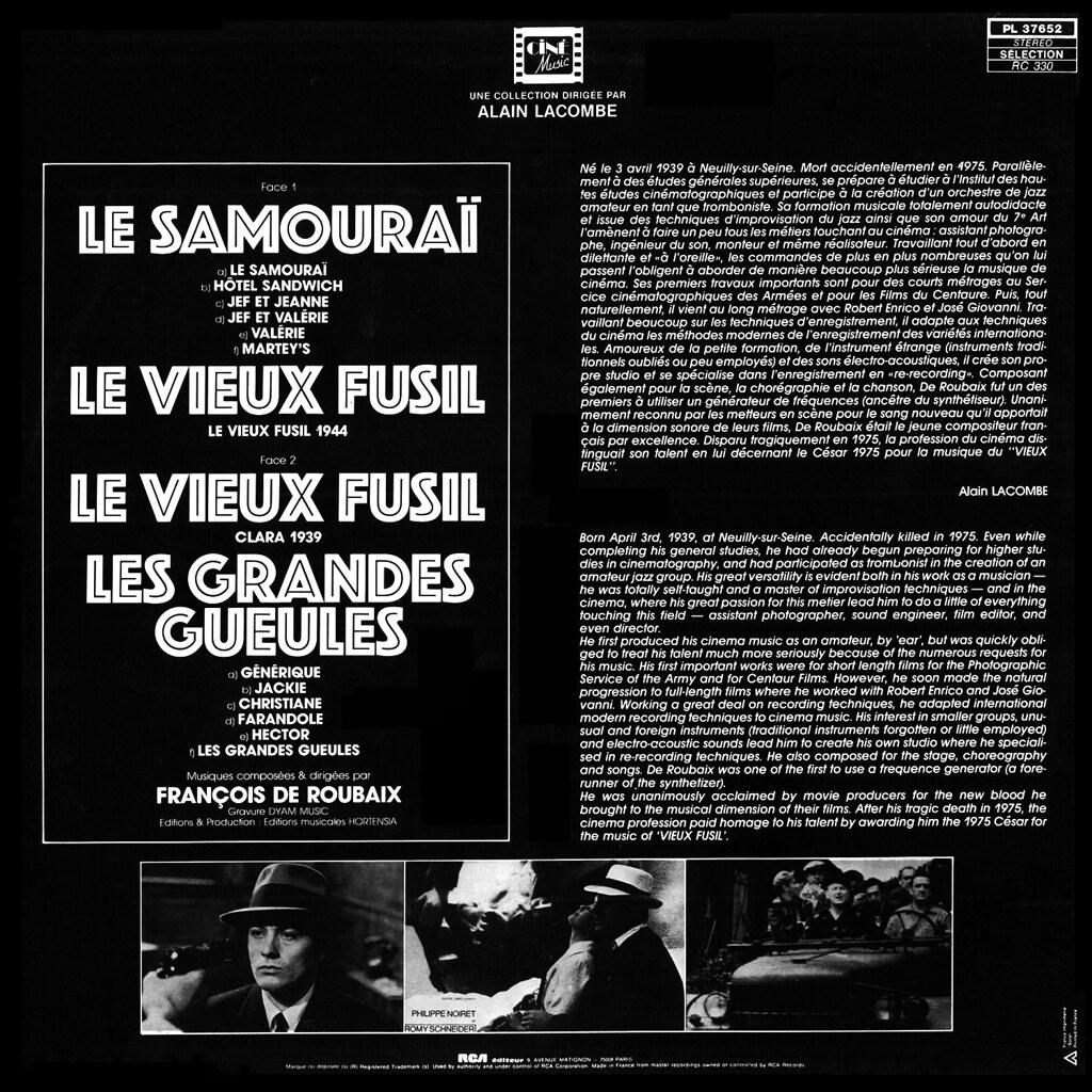 François de Roubaix - Le Samourai / Le Vieux Fusil / Les Grandes Gueules