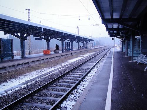 train tracks.