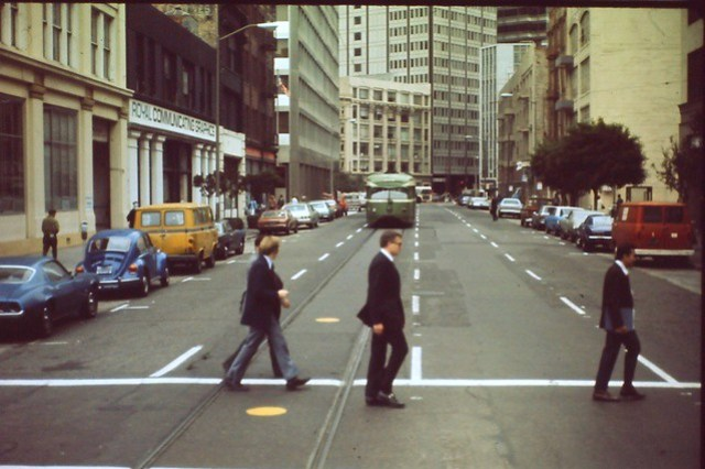 THIS IS NOT THE BEATLES ABBEY ROAD ALBUM COVER.....Scanned from original slide.