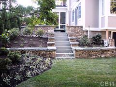WM Chuck Eblacker 11, B3, steps, retaining wall, free standing wall, PA blue stone, flat cap stones